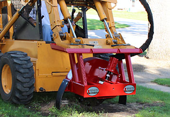 SHAVER Skid Steer Stump Buster